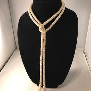 Vintage faux Pearl Necklace/Belt 52 Inches